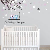 Owls in a tree wall art Baby Nursery Decor, Nursery Ideas, Tree Wall Art, Owls, Bedding, Farmhouse Nursery Decor, Nursery Room Ideas, Bed Linens, Owl