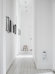 White floors for the hallway