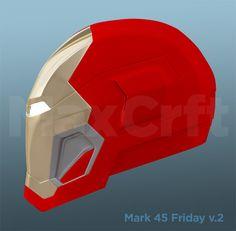 Mark 45 Friday Helmet Pepakura file DIY