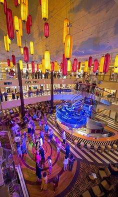 Carnival Breeze Atrium  Photo:  Carnival Cruise Lines want to see for yourself we can help www.voltvacations...