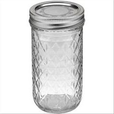 12 oz quilted glass Ball jar for drinks. The quilted glass might tie in better than regular mason jars.like your man had said :) Ball Canning Jars, Ball Mason Jars, Crystal Design, Glass Design, Jelly Jars, Crystal Collection, Spice Jars, Joanns Fabric And Crafts, Bath Salts