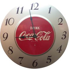 Electric Coca-Cola Wall Clock Advertising found on Ruby Lane