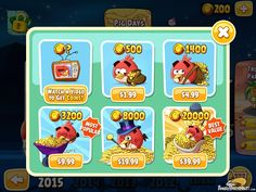 Angry Birds Seasons Invasion Of The Eggsnatchers Power up coins