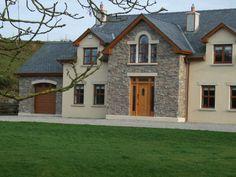 Cypress Ridge  Eldorado Stone 2 Storey House Design, Two Storey House, Modern House Design, Modern Houses, Two Story House Plans, My House Plans, House Designs Ireland, House Ireland, Stone Cladding Exterior