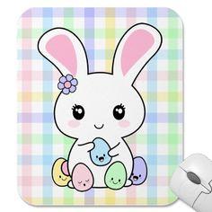 Kawaii Easter Bunny Mouse Pads