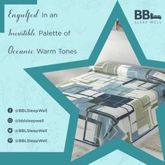 Engulfed in an irresistible palette of oceanic warm tones.  #bedding #homedecor #bedroom #bedsheet #bedroomdecor #bedcover #bed #beddingset #interiordesign #blanket #kasur #duvet #bedlinen #luxury #tuesdayvibes #pretty #TuesdayThoughts