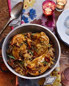 Creamy tarragon sauce pairs perfectly with succulent chicken breasts and wild mushrooms in this flavour packed recipe.