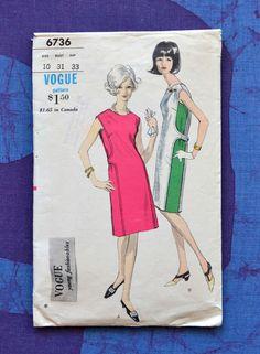1960s Pattern Vogue 6736 Vintage Vogue by ChicVintageHawaii, $9.00