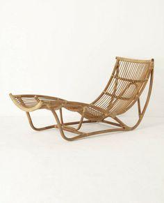 via BKLYN contessa :: vintage rattan lounge chair