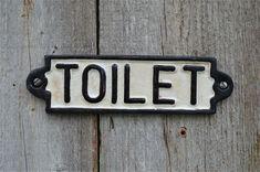 Vintage Style Cast Iron Railway Station Toilet Door Sign Plaque for sale online Bathroom Doors, Bathroom Signs, Small Bathroom, Bathroom Plants, Basement Flooring Options, Basement Ideas, Flooring Ideas, Basement Remodeling, Basement Stairs