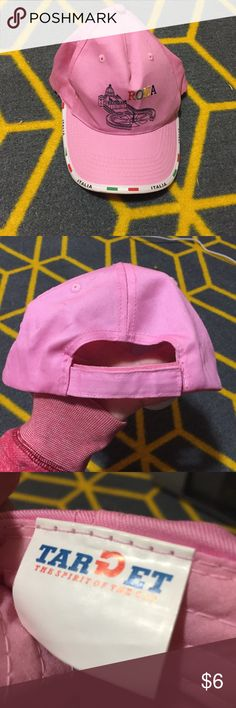 Good condition Roma Italia baseball cap Excellent used condition. Super cute baseball cap. It's a light pink color and goes with a lot of different colors. Accessories Hats