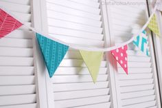I just used her tutorial and made my first bunting! Love it!!!!
