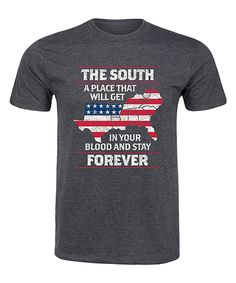 ef8575ffe859 Look at this Heather Charcoal  The South Stay Forever  Tee - Men s Regular  on