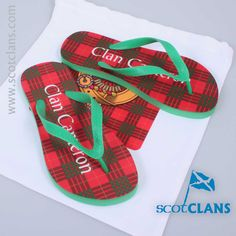 Cameron Tartan Flip Flops and Matching Bag. Free Worldwide Shipping Available