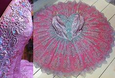 pink silver lace tutu