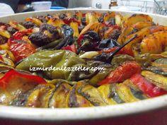 Fırında Sebzeli Köfte Dizme | İzmirdenlezzetler