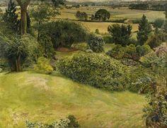 Stanley Spencer, (English painter, 1891 – 1959) Rock Gardens, Cookham Dene