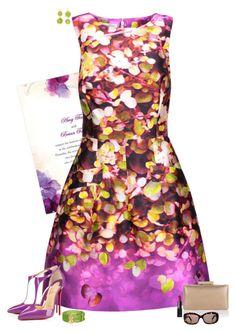 Summer wedding by julietajj on Polyvore featuring polyvore fashion style Oscar de la Renta Christian Louboutin Monsoon Renee Lewis Fendi NARS Cosmetics clothing