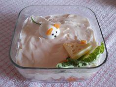 Κοτοσαλάτα  Υλικά  •2 μέτρια σε μέγεθος στήθη κοτόπουλου  •2 αυγά  •2 πατάτες  •2 καρότα  •½ κιλό τυρί γκούντα  •1 βαζάκι (μεγάλο) μαγιονέζα  •1 κουτ.σούπας μουστάρδα  •1 κουτ.γλυκού κετσαπ  •πιπέρι (προεραιτικά)  Εκτέλεση  Βράζουμε το κοτόπουλο,τα αυγά,τις πατάτες και τα καρότα.  Κόβουμε σε μικρά κυβάκια ολα τα υλικά μας.Τα κόβουμε Yams, Cooking Time, Chicken Recipes, Food And Drink, Pudding, Breakfast, Desserts, Morning Coffee, Tailgate Desserts