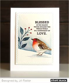 Penny Black Stamps, Penny Black Cards, The Fosters, Bird Cards, Seasons, Cardmaking, Stampin Up, Stencils, Paper Crafts