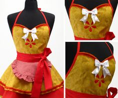 Oh my goodness!! This apron is soooo adorable, I almost want to start cooking more so that I'll have an excuse to make something like this!
