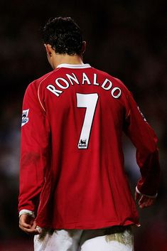 Cristiano Ronaldo of Manchester United walks back to the centre during the Barclays Premiership match between Manchester United and Aston Villa at Old Trafford on January 2007 in Manchester,. Get premium, high resolution news photos at Getty Images Cristiano Ronaldo Manchester, Cristiano Ronaldo Junior, Cristiano Ronaldo 7, Christano Ronaldo, Manchester United Wallpaper, Manchester United Players, Sport Inspiration, Old Trafford, Michael Steele