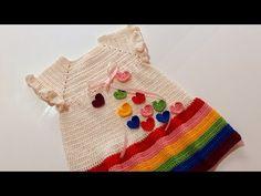 Moda Crochet, Crochet Top, Crochet Girls Dress Pattern, Baby Dress, Balloons, Alice, Girls Dresses, Facebook, Instagram