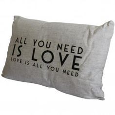 East of India All You Need Is Love Long Cushion