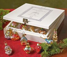 Bridal Collection - Miniature - 12 ornaments - Wooden Box