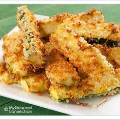 Crunchy Oven-Fried Zucchini Sticks