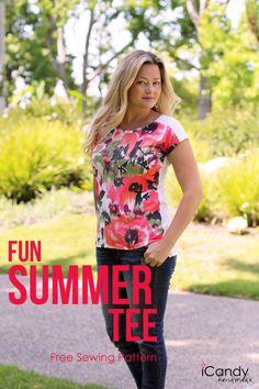 iCandy handmade Fun Summer Tee- Free pattern in Medium