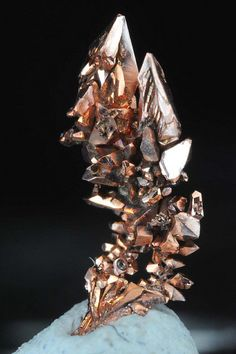 Copper Crystals by fluor_doublet, via Flickr