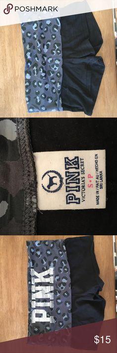PINK yoga shorts with fold over waist PINK yoga shorts with leopard print and sequin fold over waist PINK Intimates & Sleepwear Pajamas
