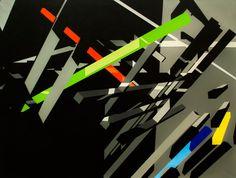 Virtuální prostory [3] - akryl, olej na plátně (160 x 120 cm) 2014