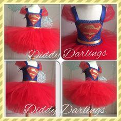 Superman Tutu Dress. Supergirl Tutu Dress. by DiddyDarlings