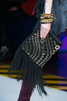 A fun fringed clutch. Runway bags at Milan Fashion Week Fall 2014 #MFW