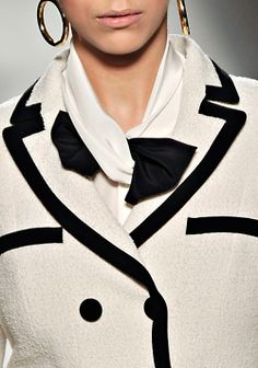 the black and the white moschino...