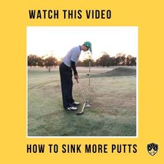 How to sink more putts with this great golf putting drill. Golf Putting Tips, Putt Putt, Drill, Sink, Baseball Cards, Learning, Sink Tops, Hole Punch, Vessel Sink
