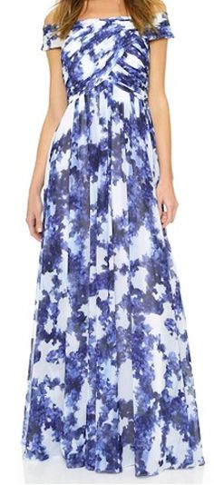 Gorgeous blue maxi - would be perfect to wear to a summer wedding!