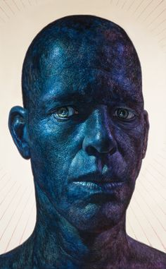 """Artist Ian Ingram's self portraits are science fiction dream worlds wrought with intense, peculiar beauty. You can see more of his work by continuing below: Keep reading """" Sketch Painting, Artist Painting, Figure Painting, Portrait Sketches, Portrait Art, Colors And Emotions, Aesthetic People, Realism Art, Realistic Drawings"""