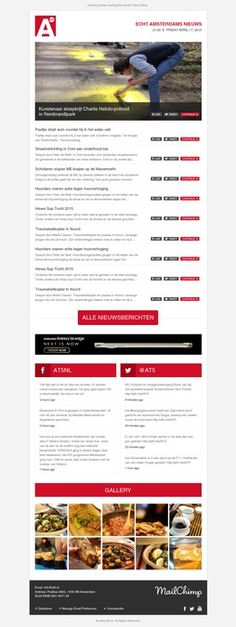 Create e-mail newsletter for Amsterdam local news media company AT5 by Paperkraft