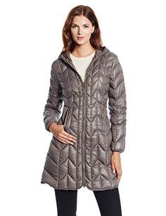 Via Spiga Women's Long Packable Chevron Down-Filled Hooded Coat, Steel, X-Small Via Spiga http://www.amazon.com/dp/B00K6A3F2O/ref=cm_sw_r_pi_dp_ewr8vb07JT4B7
