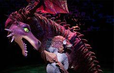 Dragon from shrek the musical Theatre Shows, Theatre Stage, Musical Theatre, Theater, Shrek Dragon, Dragon Puppet, Donkey In Shrek, Richard Blackwood, Dragon Movies
