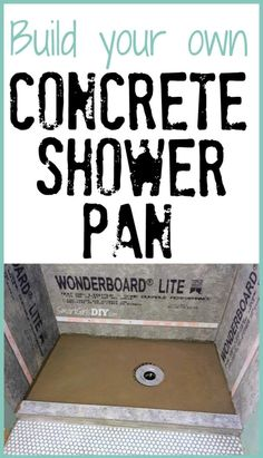 Build your own concrete shower pan -- it isn't nearly as hard as you think!