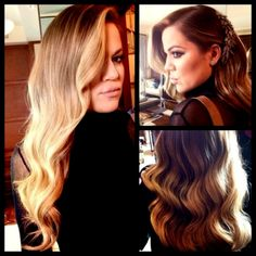 Khloe Kardashian hairstyle. Love the hair piece