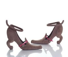 Too cute!  But I think these are cat shoes, not dachsunds.