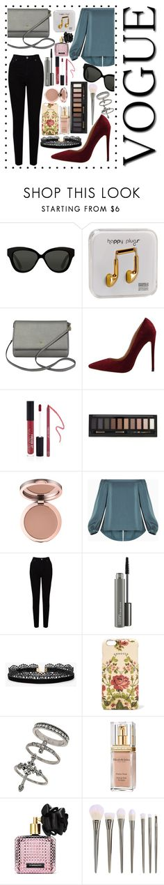 """Cool"" by kendall-ahs ❤ liked on Polyvore featuring Linda Farrow, Happy Plugs, Kate Spade, Forever 21, BCBGMAXAZRIA, EAST, MAC Cosmetics, Azalea, Gucci and Miss Selfridge"