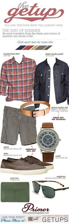 End of Summer Style! Not the jean jacket, but I like everything else!
