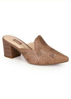 6d041497b0 Tamanco Salto Grosso Love Shoes Mule Scarpin Laço Caramelo. Dafiti ·  Products · Tamanco Salto Grosso Dakota Taupe
