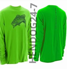 HUK MEN'S NEON GREEN RAGLAN PERFORMANCE BASS SHIRT MSRP $39.99 SIZE LARGE #Huk #ShirtsTops